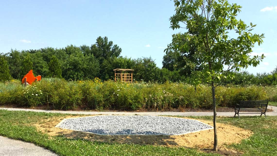 Delaware natural area gazebo stone base foundation
