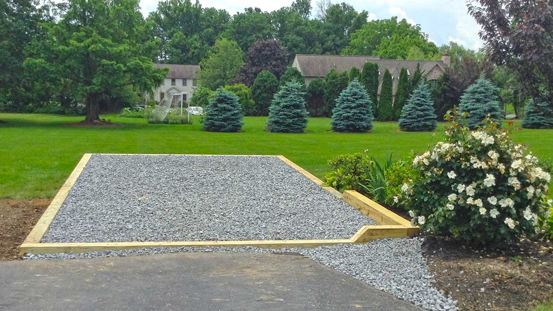 Lancaster PA stone base foundation with rim