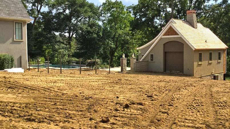 Regrading Landscape Around Pool House