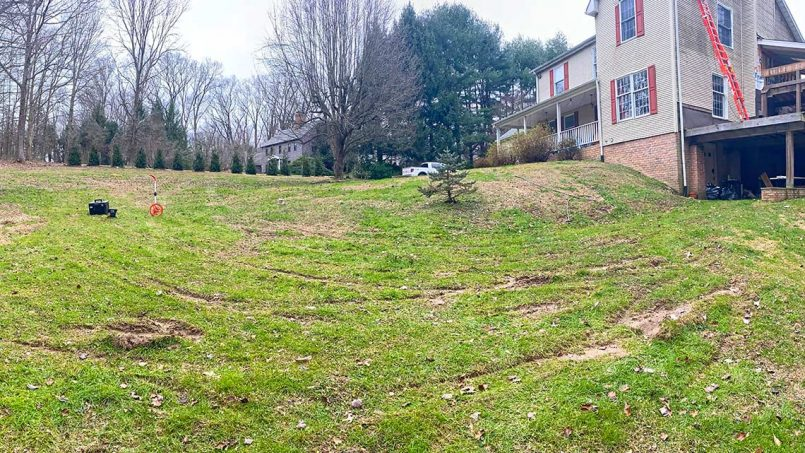 Gravel driveway before excavation