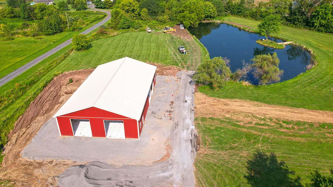 Site excavation and preparation with storm water management